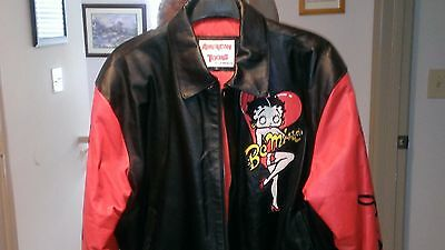 Betty Boop Leather Jacket Size XL