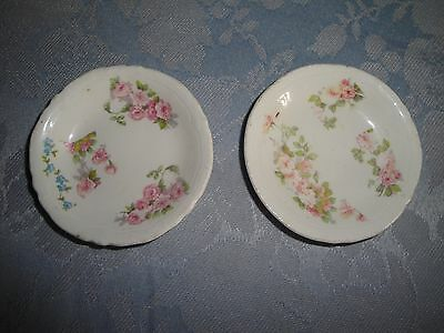 Johnson Brothers Lot of 2 Butter Pats Pink Roses 3""