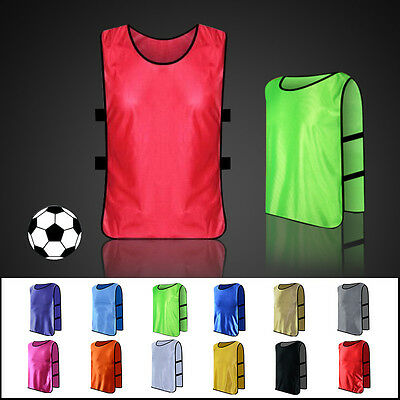 Football Training Bibs Soccer Rugby Basketball Sports Vests 13 Colors 3 Sizes