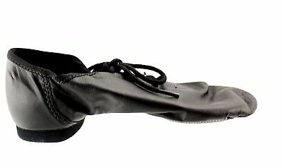New With Box Girl's SO DANCA Black Jazz Dance Shoes Size 11.5