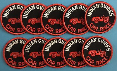 10 Lot Vintage 1960's YMCA Adventure Indian Guides Annual Car Race Patches D
