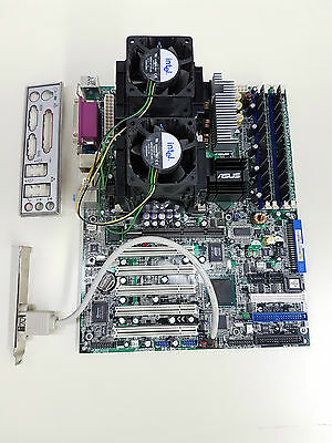 Asus PC-DL Deluxe REV 1.05 875P + 2x Xeon 3.06GHz + 2GB + I/O Shield TESTED