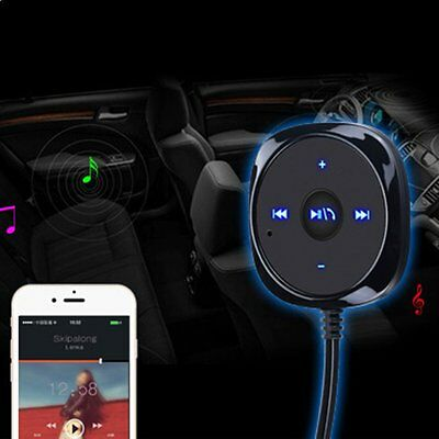 Bluetooth Car Kit Stereo Music Receiver MP3 Player Hands-free 3.5mm Aux Input GT