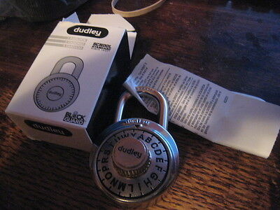 New lot of 2 dudley® DYRP301 School Series Lock With 3-Letter Dial Combination