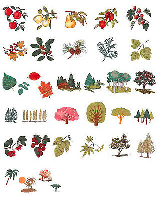 Trees & Leaves Brother Machine Embroidery Designs PES CD,USB