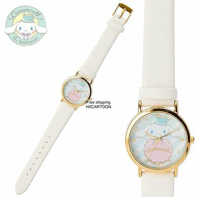 Japan Sanrio Cinnamoroll 15Th Anniversary Leather Strap Watch 646670