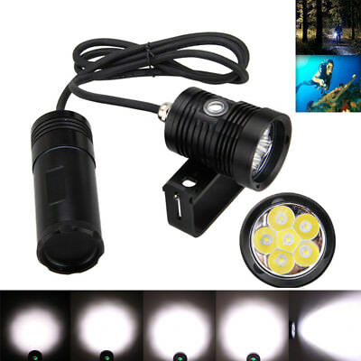 10000LM 6x XML L2 LED SCUBA Diving Dive Light Lamps Torch Underwater 150m
