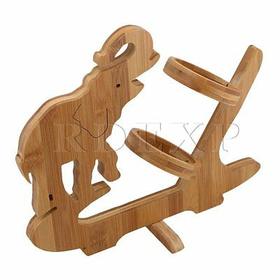 31mm Length Bamboo Folding Wine Rack Bottle Holder Random Animal Shape
