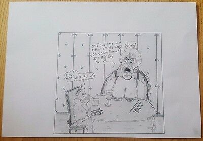 Charles Bronson Prisoner Art A4 Card Black & White Funny Postcard Sketch 2013