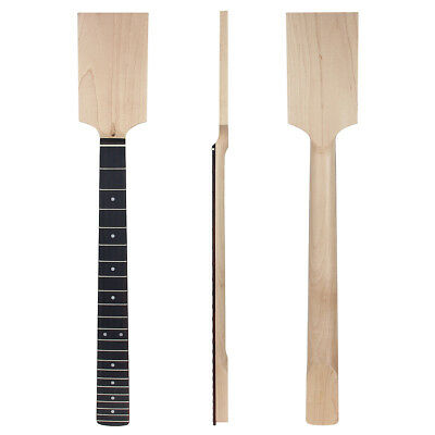 Electric Guitar Neck Paddle Head Rosewood 22 Frets Maple Bolt On Unfinished