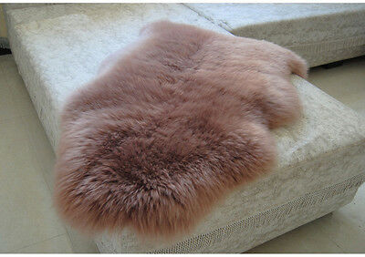 105CM Genuine Australian Sheepskin Rug One Pelt Light Brown Real Lambskin Rug