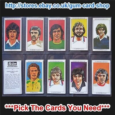 The Sun Soccercards 1978-79 (Vg) (Card 101 To 200) *Please Choose Cards*