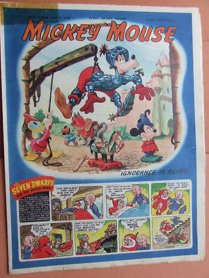 Mickey Mouse Comic. 12/6/1948.   Big post savings on multiple buys.