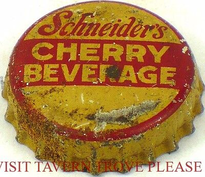 #2 Brooklyn New York 1950s Schneider Cherry Beverage Cork Crown Tavern Trove