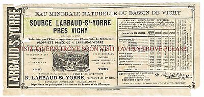1900s France Larboud St Yorre Pres Vichy Mineral Water Label Stephens Collection