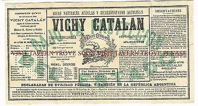 1900s Vichy Catalan Argentina Mineral Water label Stephens Collection