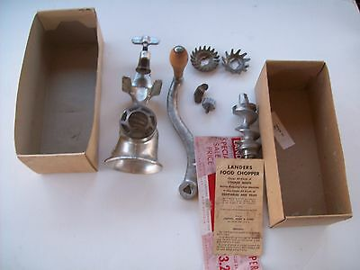 Antique Landers, Frary, & Clark Food/ MEAT CHOPPER/GRINDER No. 31 w/Box-Guc