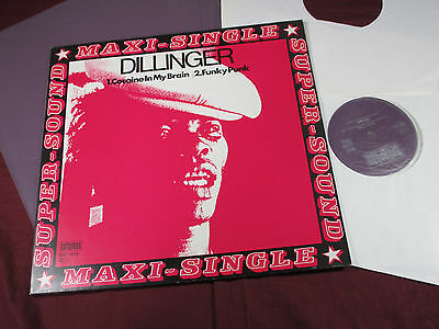 Dillinger  COCAINE IN MY BRAIN / FUNKY PUNK - 12'' Maxi Bellaphon 1979 near mint