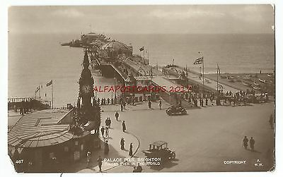 Sussex Brighton Palace Pier Real Photo 1914 Vintage Postcard