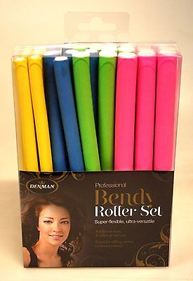 Denman Professional Bendy Hair Rollers 32 Piece Assorted Set
