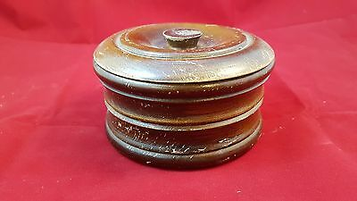 Vintage Wooden Dresser Dish Jewelry Collectible