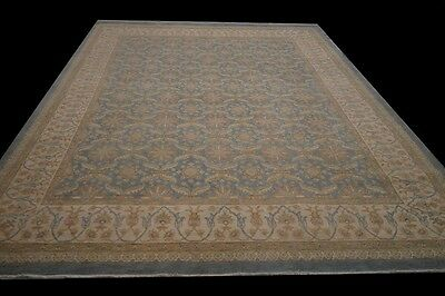 Decorative Vintage look Hand-Knotted Rug 9x12 Super fine Chobi Peshawar Carpet