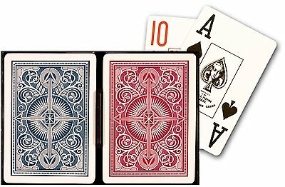 2 Deck Set New Kem Arrow Red Blue Poker Wide Jumbo Index Playing Cards