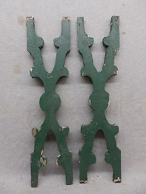 Pair Antique Architectural Gingerbread Flat Balusters Vintage Old 272-17R