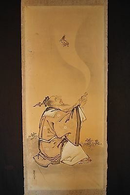 ORIGINAL EDO ERA KANO SCHOOL JAPANESE PAINTING / By Kano Sadanobu 1666-1722 # 2
