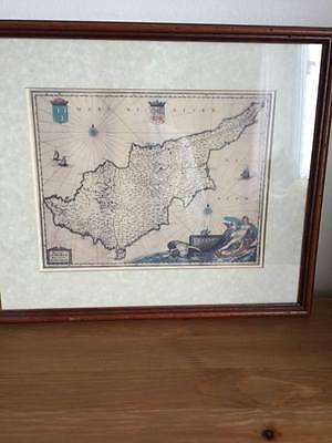 Framed Map of Cyprus