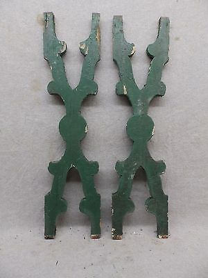 Pair Antique Architectural Gingerbread Flat Balusters Vintage Old 277-17R