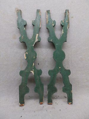 Pair Antique Architectural Gingerbread Flat Balusters Vintage Old 279-17R