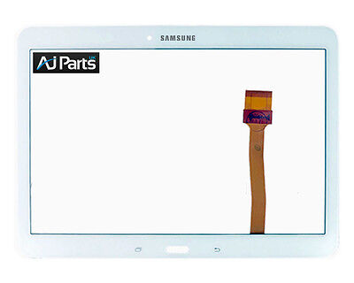 UK TOUCH DIGITIZER FRONT GLAS FOR Samsung Galaxy Tab 4 10.1 SM-T530 (wifi) White