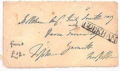 AU136 Pre Stamp *HOLKHAM* Norfolk Front Cover {samwells-covers}PTS