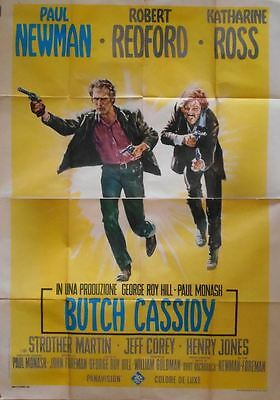 BUTCH CASSIDY AND THE SUNDANCE KID Italian 4F movie poster 55x79 NEWMAN REDFORD