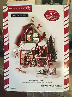 """Dept 56 North Pole  """" Candy Cane Corner """"  # 56952 Gently Used """" Mint """""""