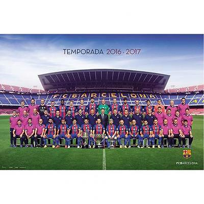 Official Licensed Football Product FC Barcelona Poster Squad Team Messi Fun New