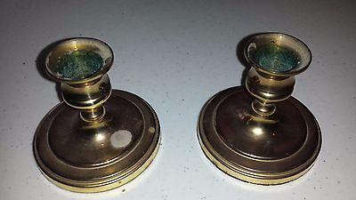 "Set of two, 2 7/8"" Vintage Baldwin Brass Candlesticks Candleholders"