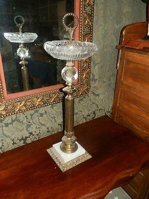 Gorgeous Free Standing Antique Cut Glass Ashtray