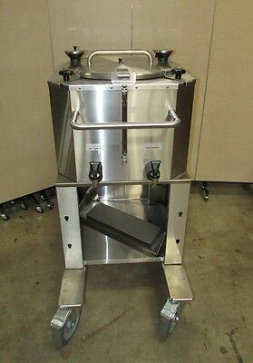 New Fetco Luxus 18 Gallon Thermal Dispenser with Cart LBD-18 w/ slight damage