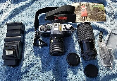 Canon AE-1 Program 35mm Camera Body With  Lenses & Extras