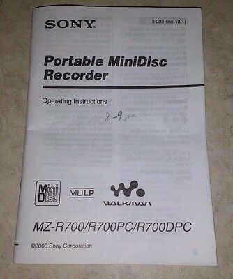 Sony mz-r700 a service manual technical manual. By down for sale.