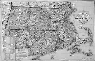 1879 MA Map Waltham Wareham Ware Watertown Wayland Webster Wellesley POPULATION