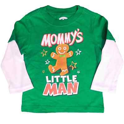 Holiday Time Infant & Toddler Boys Gingerbread Christmas Long Sleeve Shirt