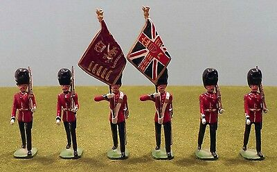 Ducal Welsh Guards Colour Party Marching 54 mm Toy Soldiers