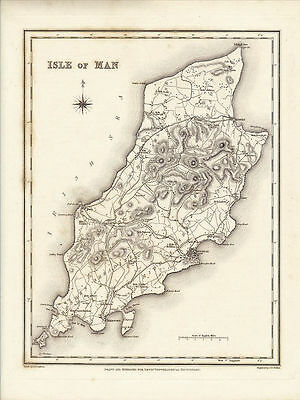 Antique Map of the Isle of Man by R. Creighton.