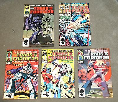 TRANSFORMERS #1 2 3 4 5 + Extras 1st Appearance 10 Issues 1984 VF/NM Marvel