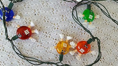 "2 Sets M&M's String Strand Lights Christmas Tree 11"" Each M&M Candies"
