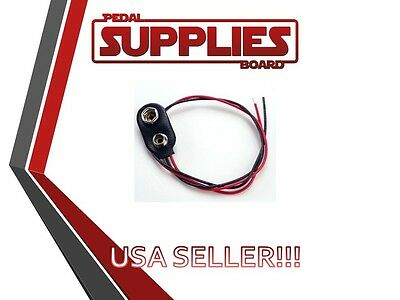 5X  9v Battery Connector Snap Clip Wire Lead 9 Volt USA Seller Free Shipping