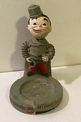 1940's Figural Display Counter Advertising Ashtray Kid Reliance Figure Vintage